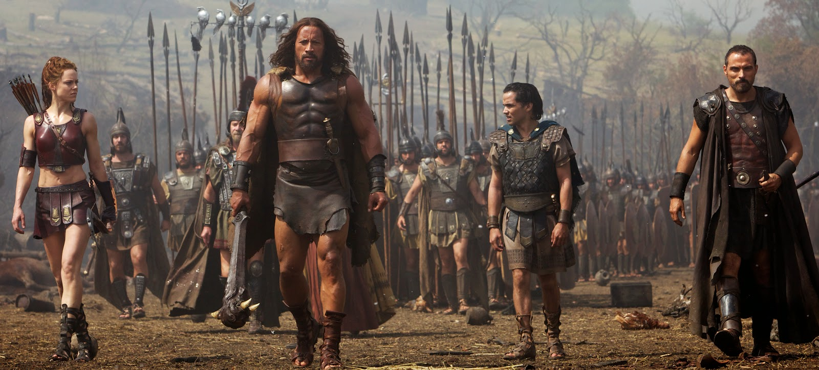 batalla, hércules, fotograma, película, guerreros