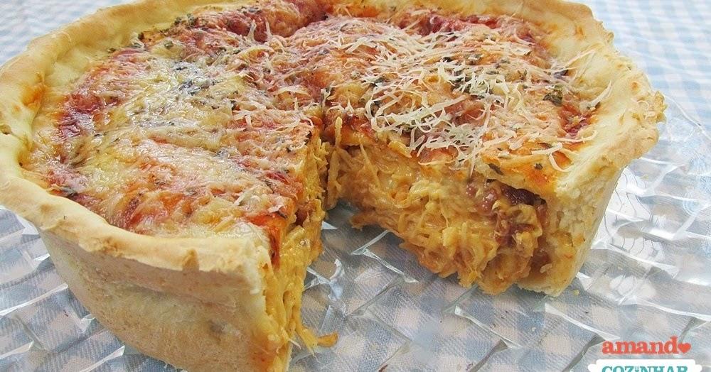 Pizza estilo Chicago - Super recheada - Amando Cozinhar ...