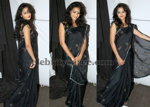 Bhanu Black Saree