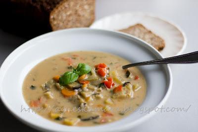 litván leves padlizsánnal burgonyával