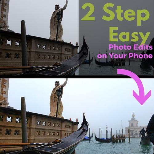 2 step easy photo edits on your phone- Tanya Ruffin for Geaux Create It