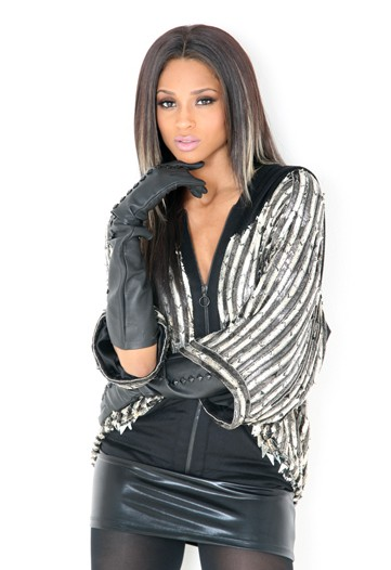 Ciara leather gloves leather skirt