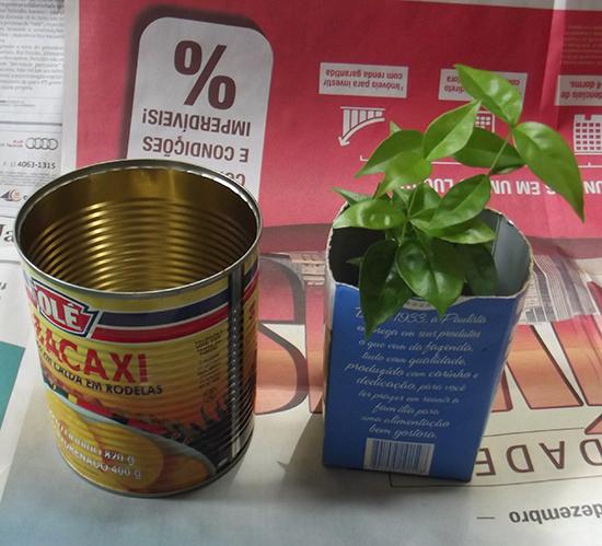 vaso de planta, vaso, reciclagem, faça você mesmo, diy, lata, lata reciclada, lata pintada