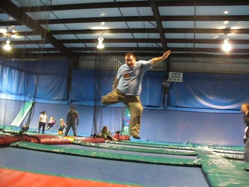 Sky Mania Las Vegas jumping Skymania trampoline