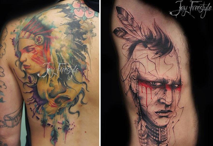 tatuajes a mano alzada