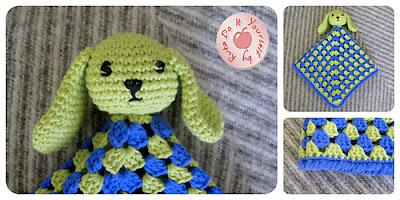 free crochet bunny lovey pattern