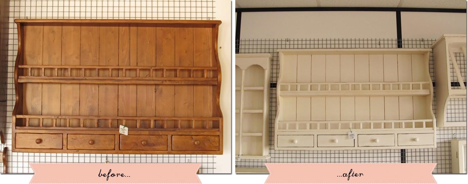 Una piattaia tanti stili shabby chic interiors - Mobili legno grezzo ikea ...