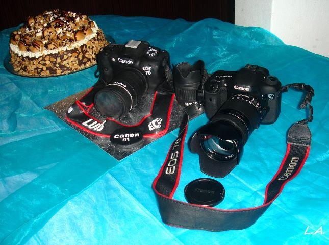 O Bolo e a máquina Fotográfica