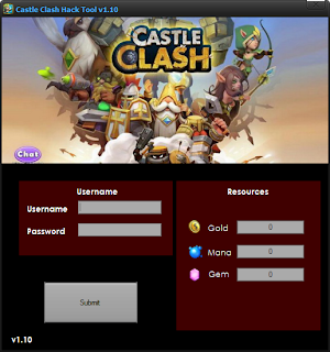 Castle Clash Hack Tool v1.10