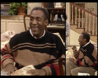 Cosby Show Huxtable fashion blog 80s sitcom Cliff Bill Cosby sweater