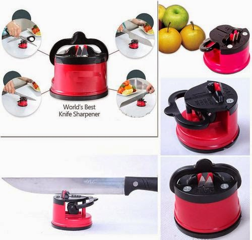 Alat Asah Pisau / Knife Sharpener With Suction Pad