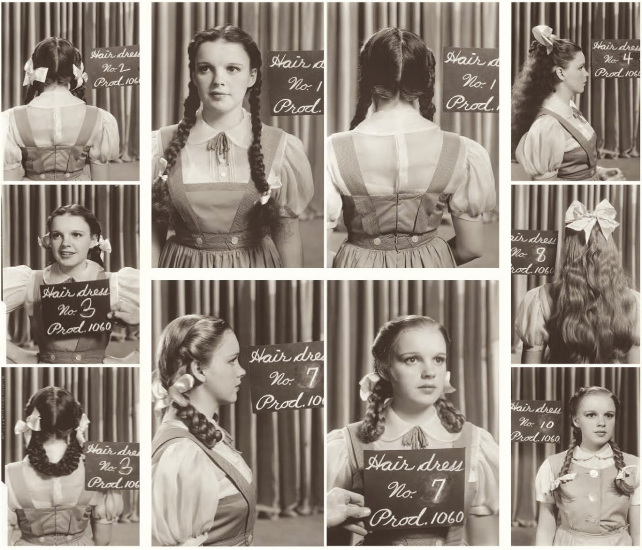 Serial Bus: Judy Garland Costume Test Hairstyles for the wizard of oz