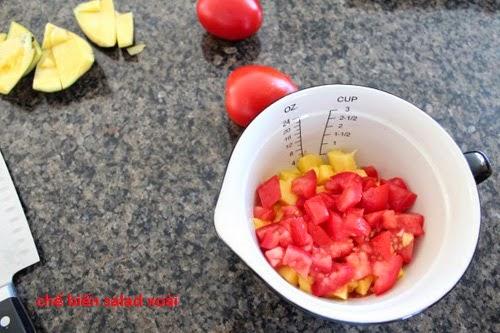 Bí quyết giảm cân bằng salad xoài