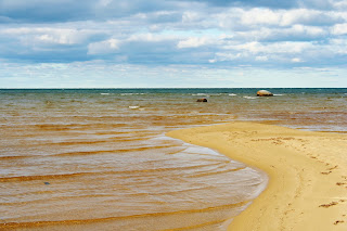 "Beach at ""The Shallows"", Whitefish Bay, MI"