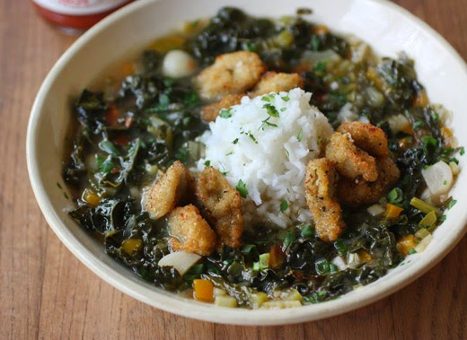 lisa is cooking: Gumbo z'Herbes with Fried Oysters