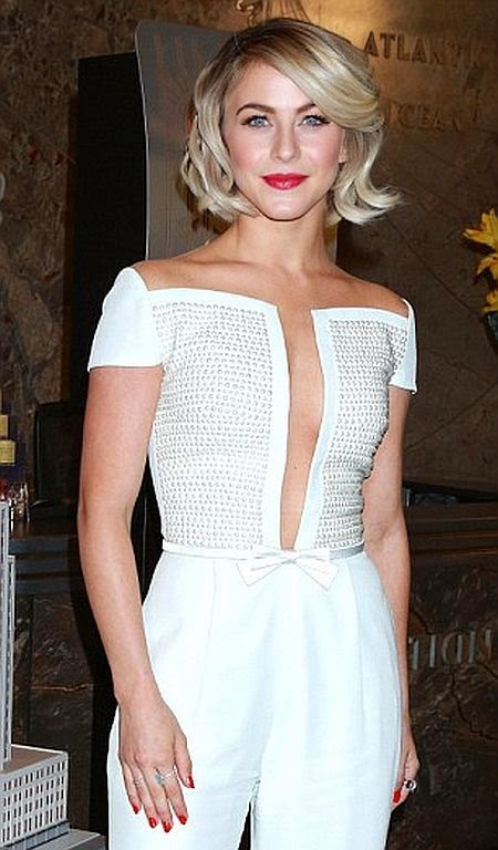 It's nice to be able to be like and we doesn't have a patient to see Julianne Hough on those perfect garment while attending an event at New York, USA on Friday, October 10, 2014.