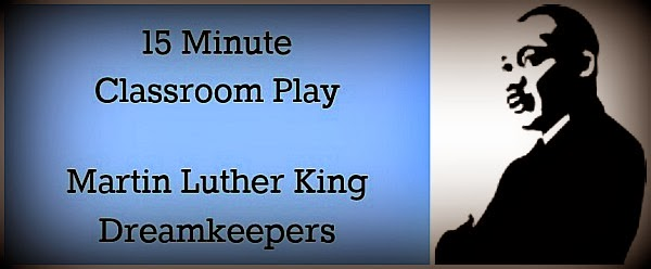 "Free Martin Luther King Day stage play for kids ""Dreamkeepers"" 15 minute Classroom Skit"