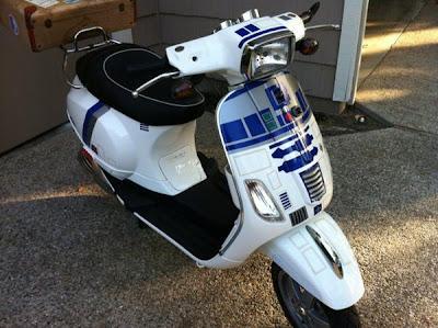 "фото  Мопед фаната ""Звёздных войн"" star wars moped"