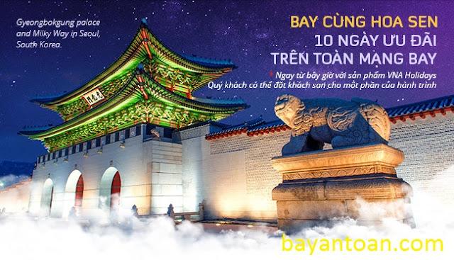 Vietnam Airlines - Bay cùng hoa sen, 10 ngày ưu đãi trên toàn mạng bay