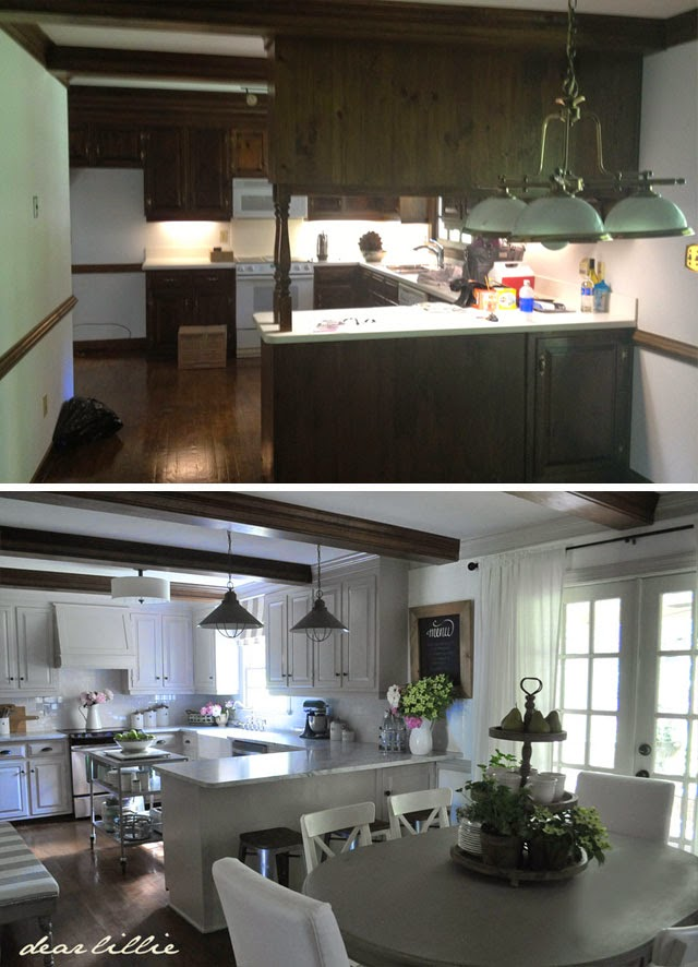 Dear Lillie: Our Kitchen Makeover (Before And Afters And A Full