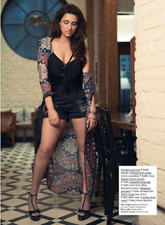 Parineeti Chopra Sizzles on the cover page of JUICE magazine from Jabong in Short Black Dress