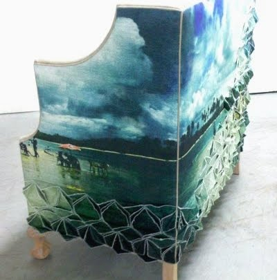 Vanguard chair with seascape