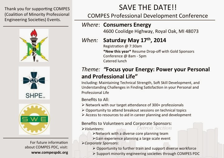 Swe detroit save the date compes professional for Conference save the date template