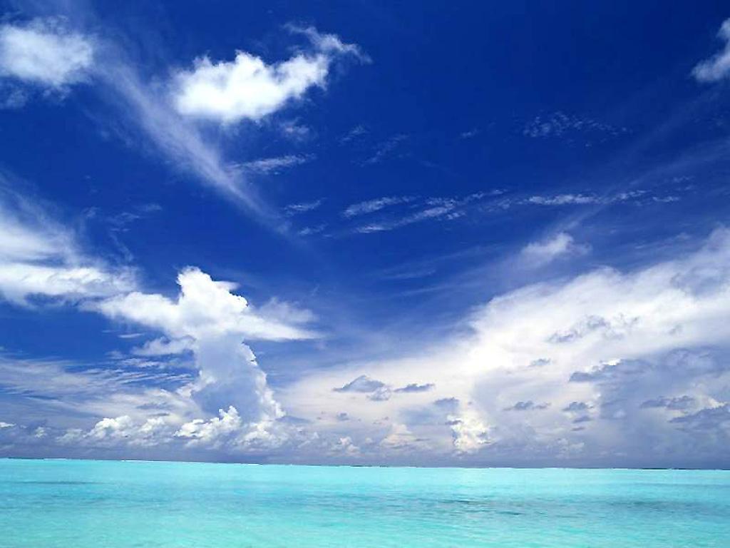 Blue ocean nature backgrounds - Wallpaper ocean blue ...