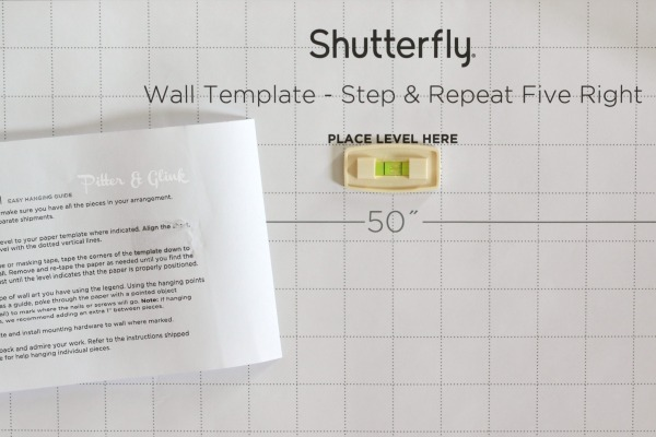 Shutterfly's Design-A-Wall Hanging Kit Wall Template with Level pitterandglink.com