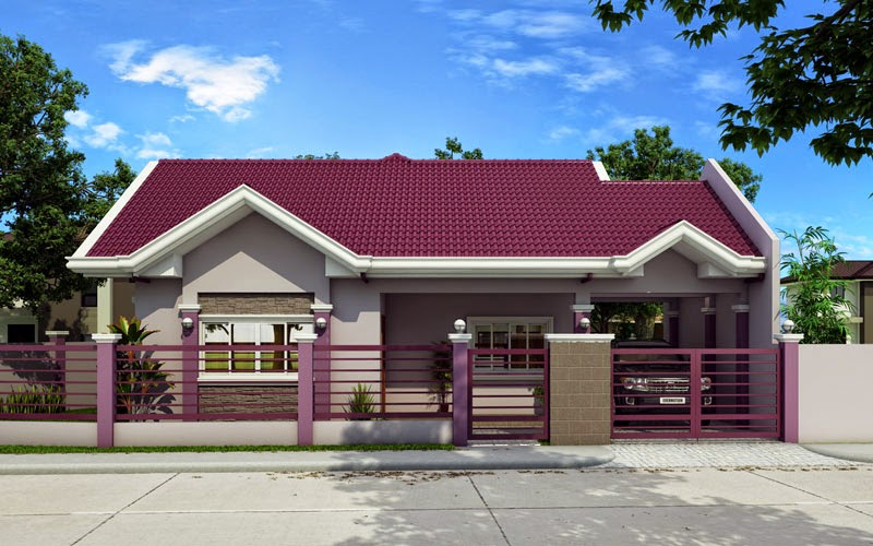 small house design 2015014 View02 - View Small Simple House Design With Rooftop Background