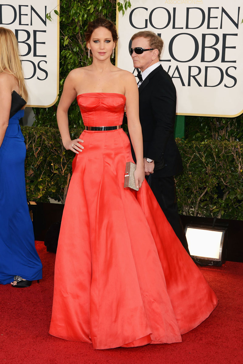 Jennifer Lawrence Updo Hairstyle 2013 Golden Globes