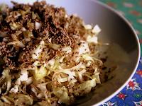 Salada de Repolho com Gergelim (vegana)