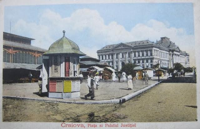 Piata si Palatul Justitiei din Craiova de altadata