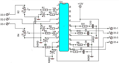 200W car amplifier schematic