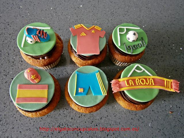 cupcakes fútbol La Roja Eurocopa