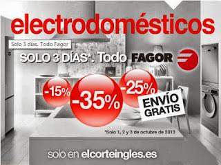 electrodomesticos con rebaja fagor 1-10-13