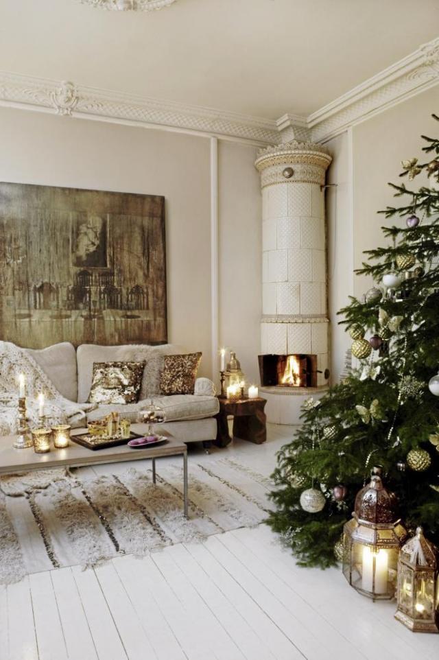 House of silver: golden christmas inspiration og en diy   guld ...