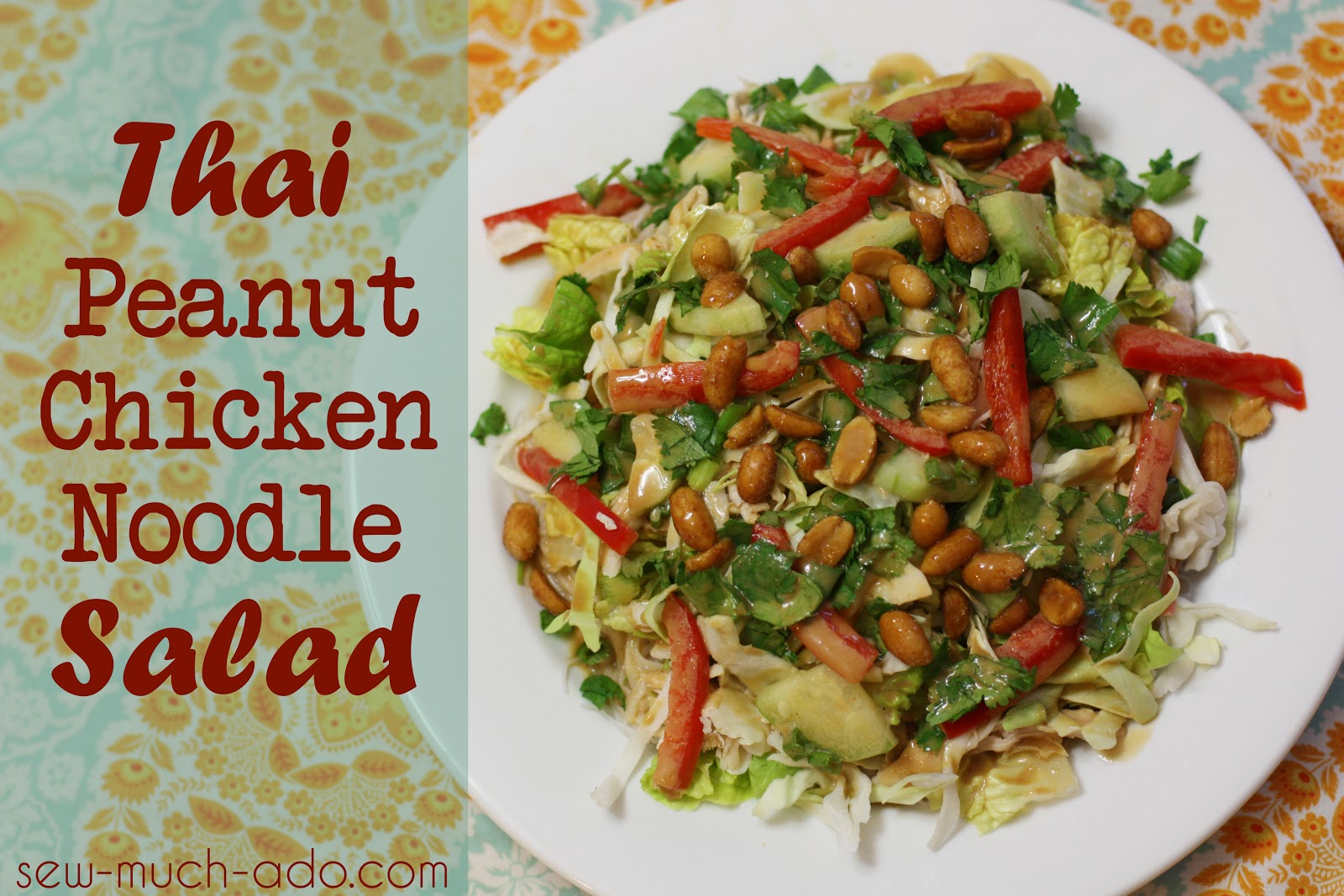 Thai Peanut Chicken Noodle Salad Recipe - Sew Much Ado