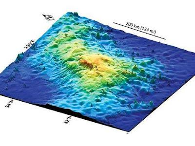 El volcán submarino Tamu cerca de Japón es el más grande del mundo