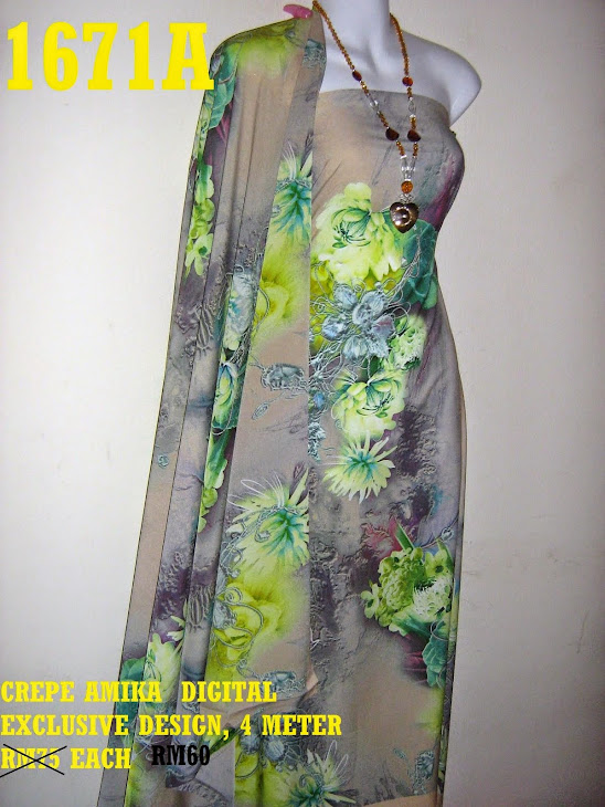 1671A: CREPE AMIKA DIGITAL EUROPE COLLECTION, 4 MTR, EXCLUSIVE DESIGN,  SGT CANTIK