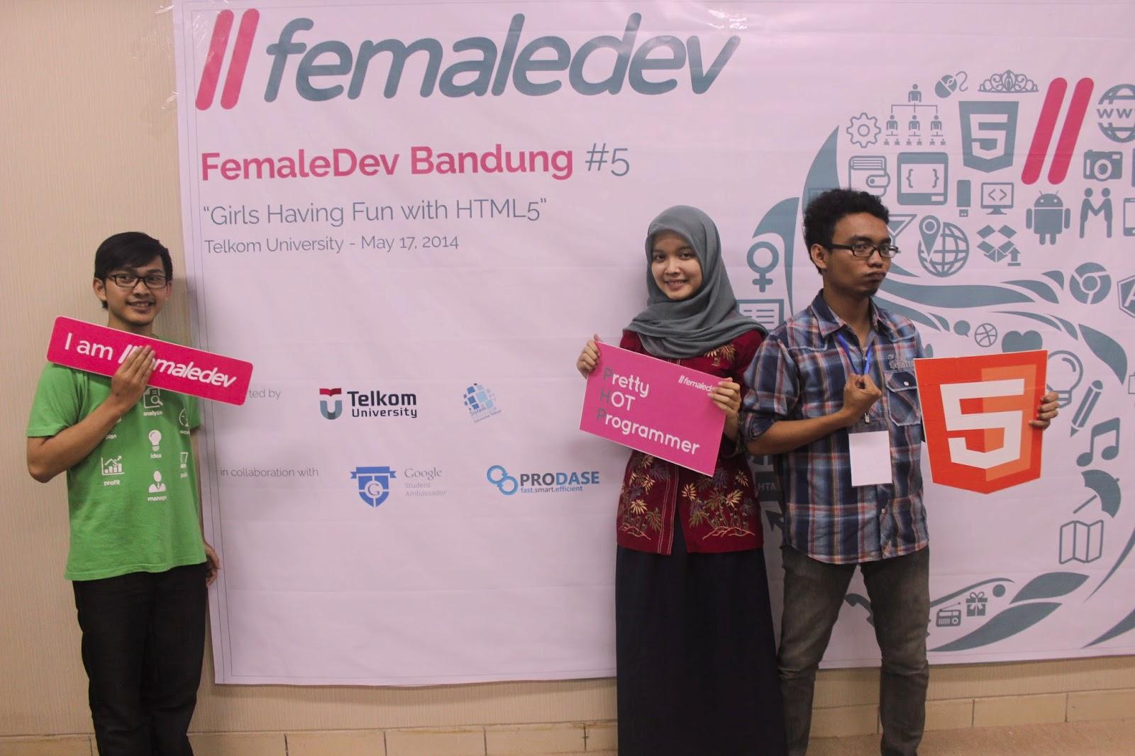 GSA Telkom University 2014 - Female Dev Bandung di Telkom University | MMufidLuthfi
