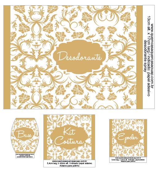 Kit Banheiro Casamento Moldes Dourado : Quem casa quer ou ap kit toilet download