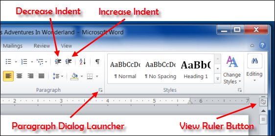 INDENTING TEXT - MS Word 2010 Tutorial