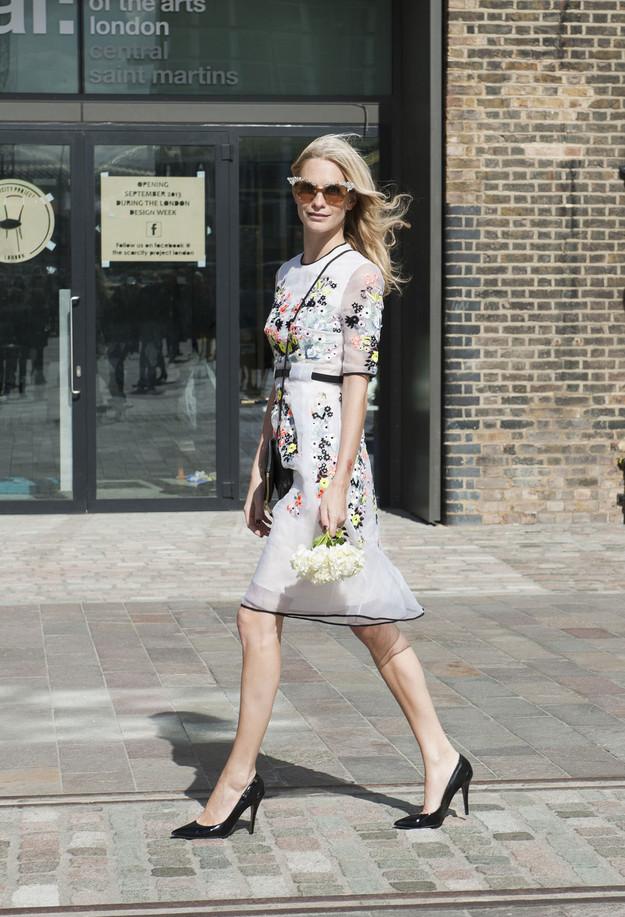 poppy delevingne floral dress erdem fashion show