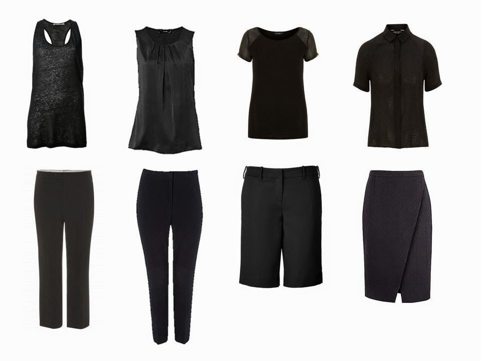 "Eight pieces of black clothing - a black ""Not So Crazy Eights"""