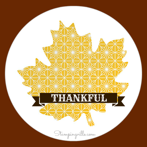 Thankful Tablescape patterned leaf