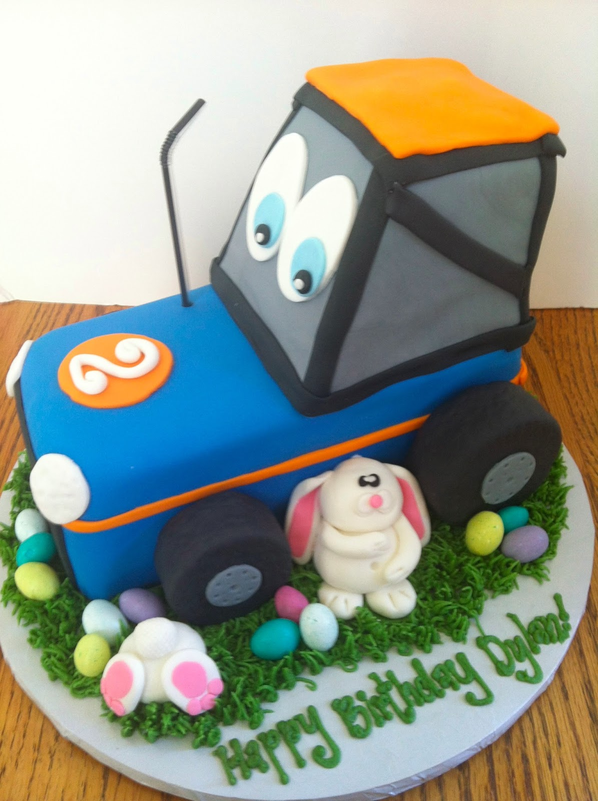 A Little Something Sweet Tractor Easter Birthday Cake