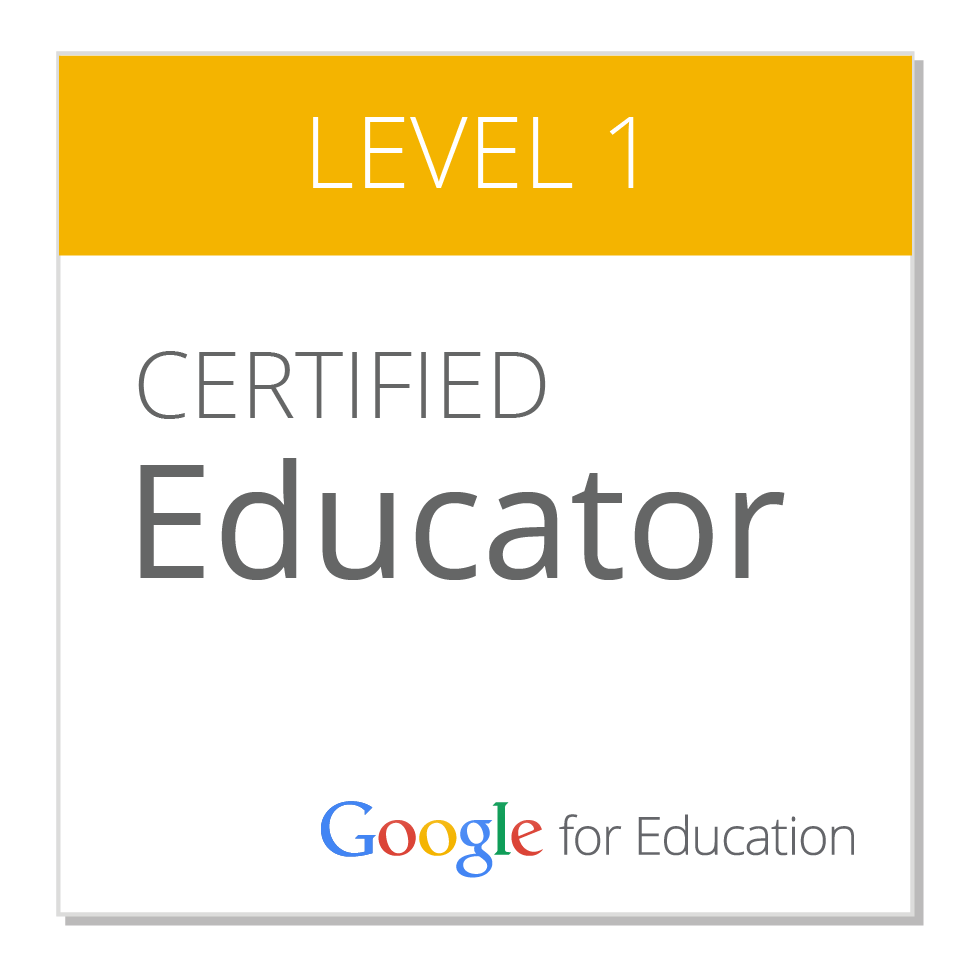 Google Certified Educator 1