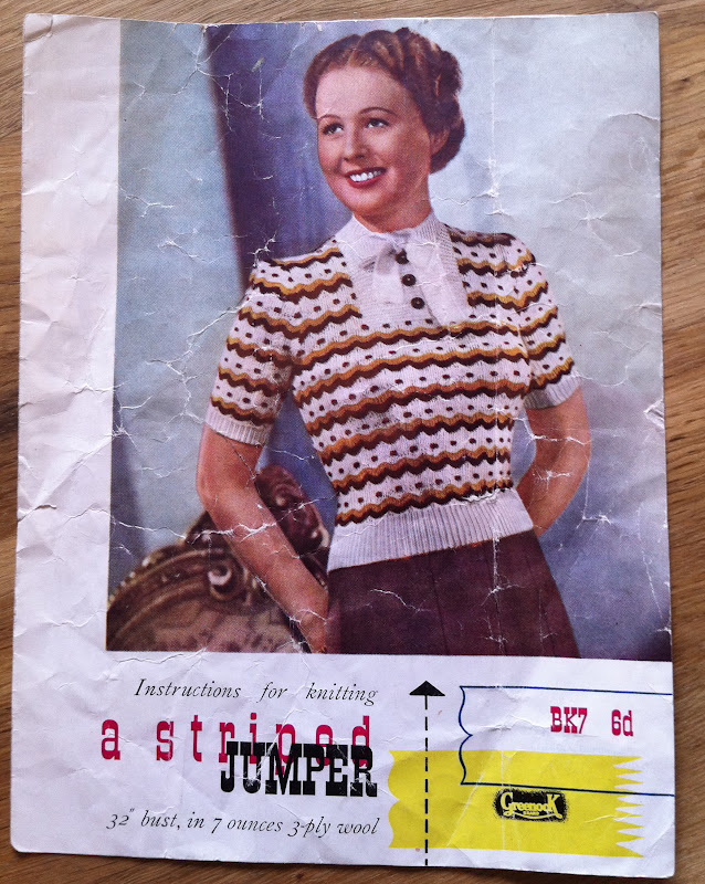Vintage knitting pattern - finally finished - Guthrie & Ghani