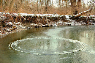 ice circles - rare natural phenomenon